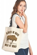 Wild At Heart Bison Tote