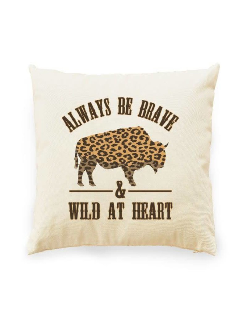 Wild at Heart Bison Pillow w/ Insert