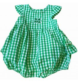 Marshall University Gigi Infant Gingham Romper