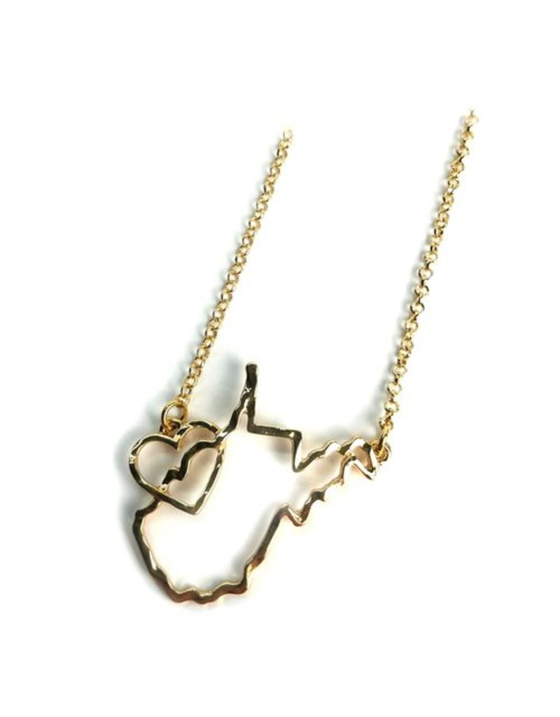 WV State Heart Necklace