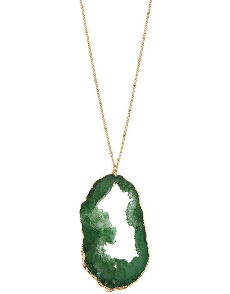 Green Geode Necklace