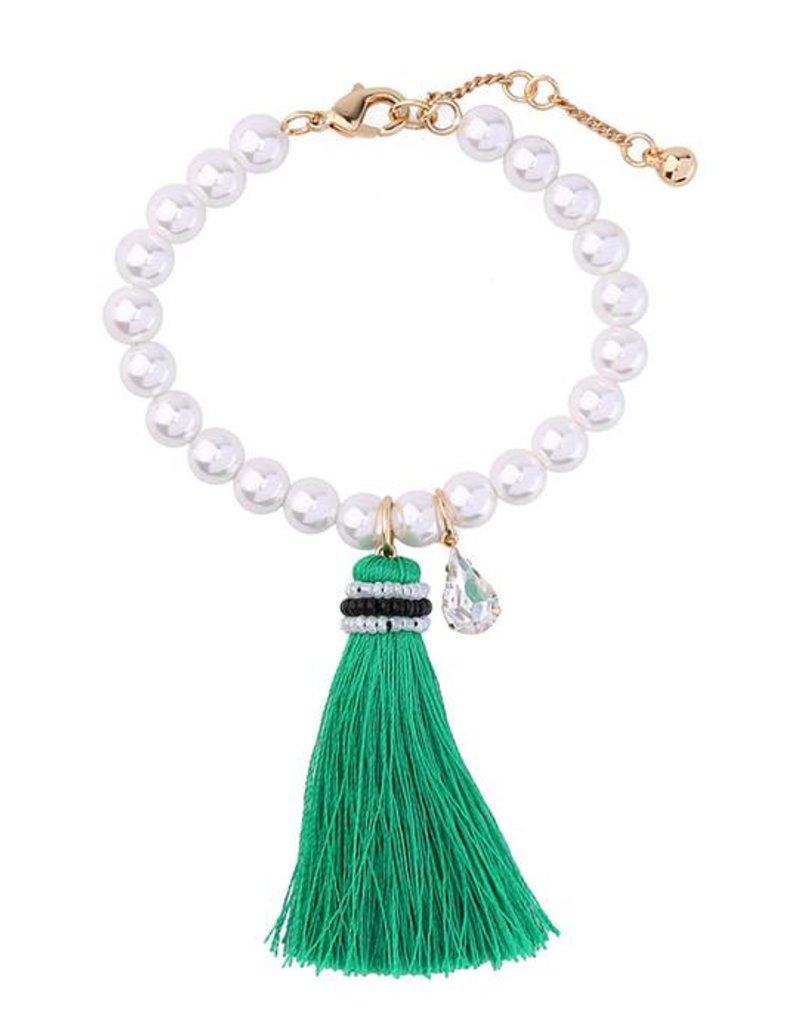 Mary & Millie Pearl Tassel Bracelet