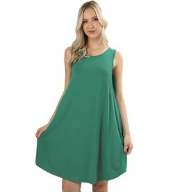 Round Hem Sleeveless Mini Dress