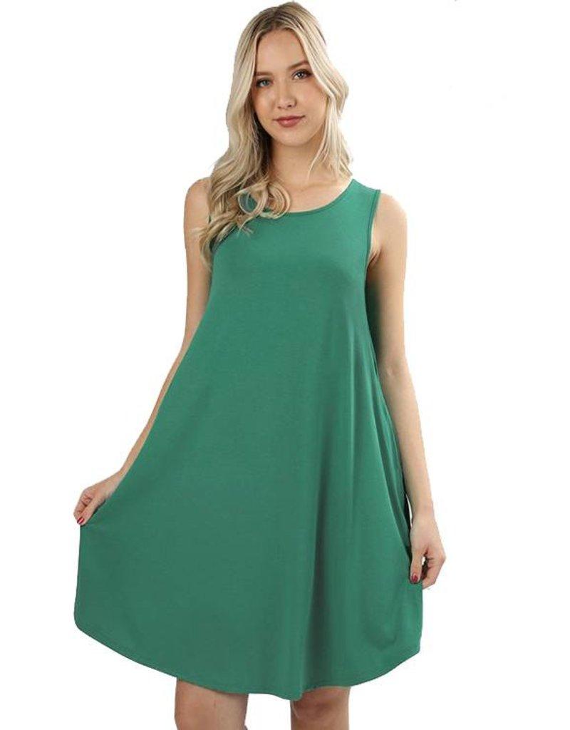 Round Hem Sleeveless Mini Dress