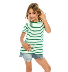Girl's Stripey Pleated Tee