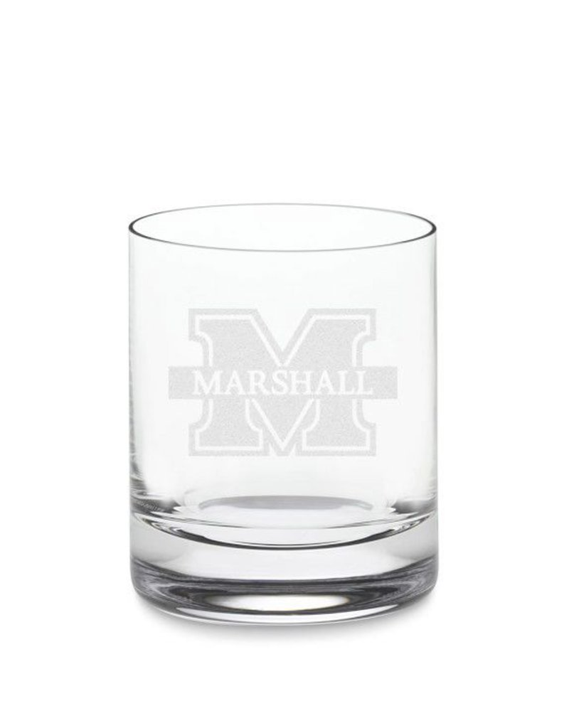 Marshall University Crystal Rocks Glass