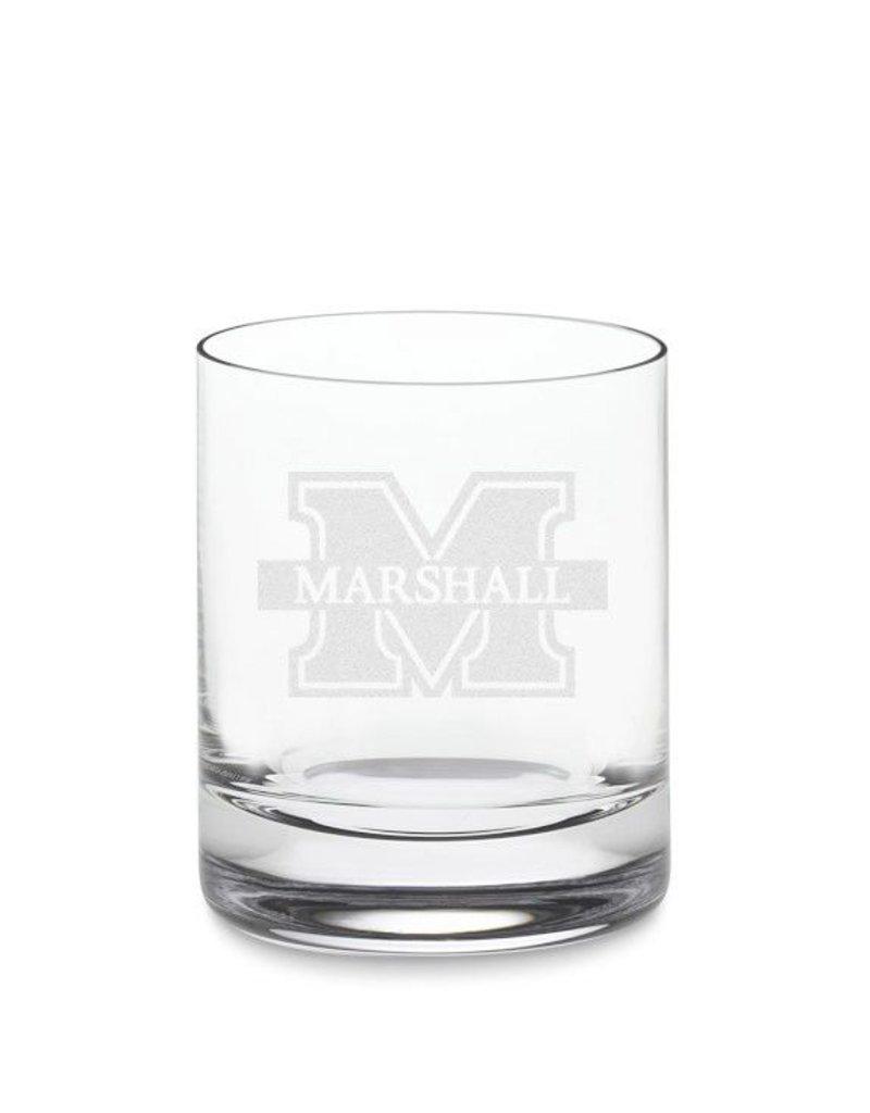 Marshall University Crystal Rocks Glass
