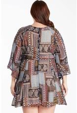 Boho Patchwork Pattern Dress