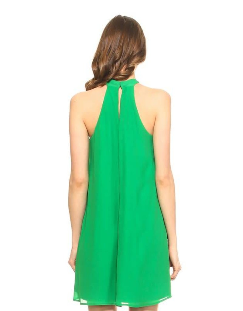 Chiffon Halter Dress