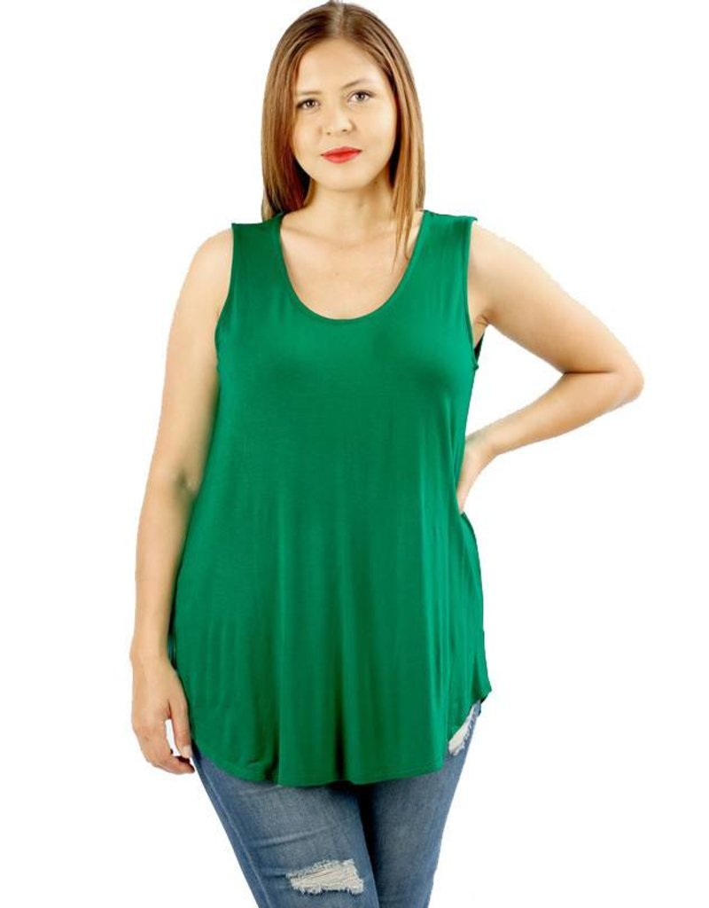 Rayon Tank Top-Plus