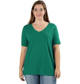 Basic V-Neck Tee-Plus