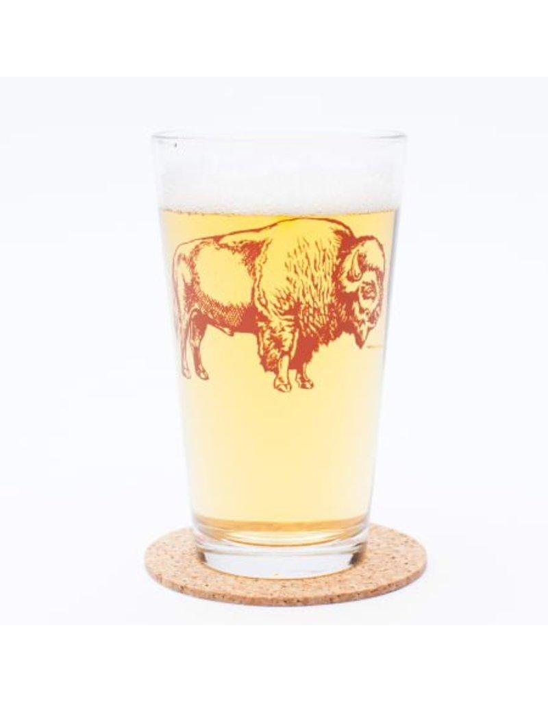 Bison Pint Glass