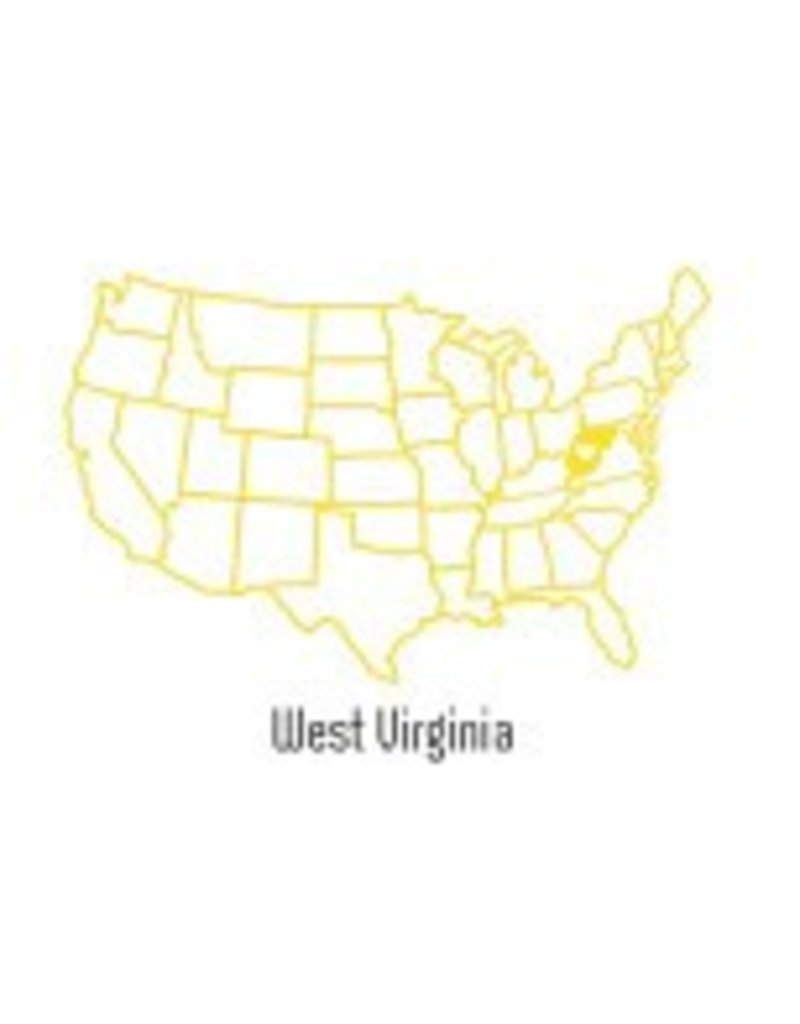West Virginia US Map Pint