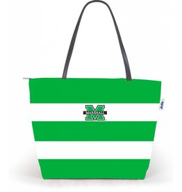 Marshall University Game Day Rugby Stripe Tote