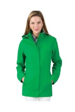 Kelly Green Ladies Rain Jacket