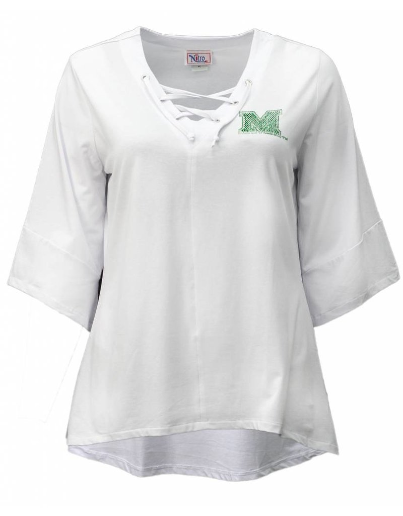 Marshall University Lace-Up Tunic