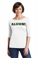 Marshall Alumni Ladies 3/4 Sleeve Tee Shirt