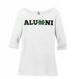Marshall Alumni Ladies 3/4 Sleeve Tee Shirt