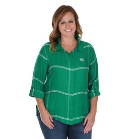 Marshall UG Apparel Plus Satiny Plaid Shirt