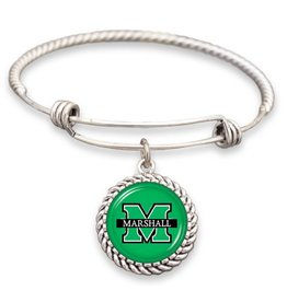 Marshall University Wire Wrap Memory Bracelet