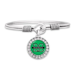 Marshall University Cuff Bangle Crystal Circle