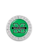 Marshall University Crystal Circle Brooch