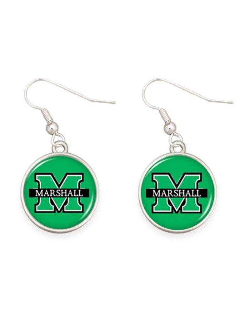 Marshall University Round Earrings