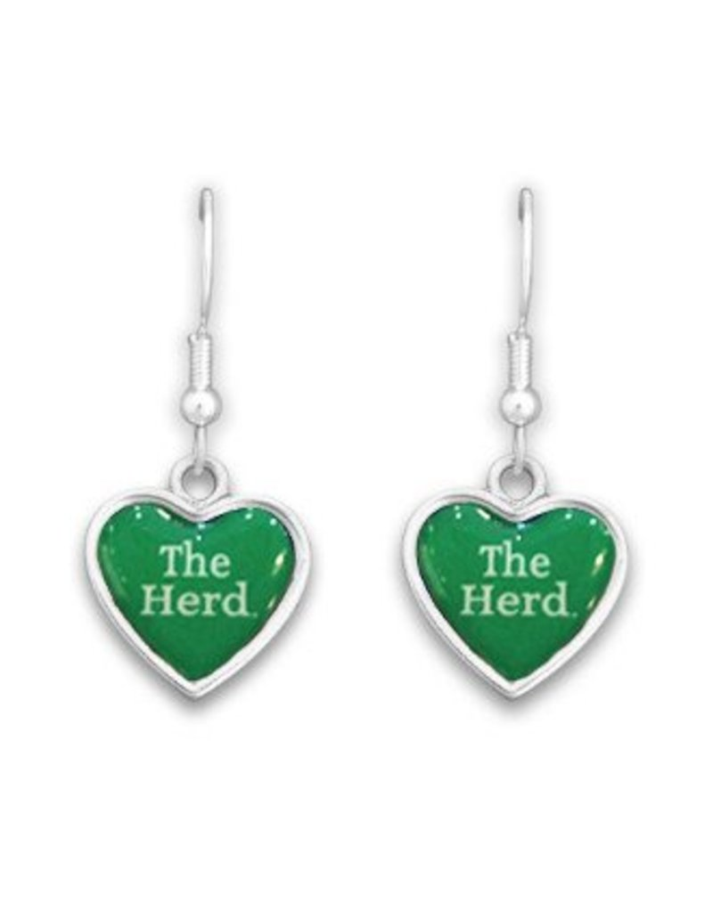 Marshall University Spirit Heart Earrings