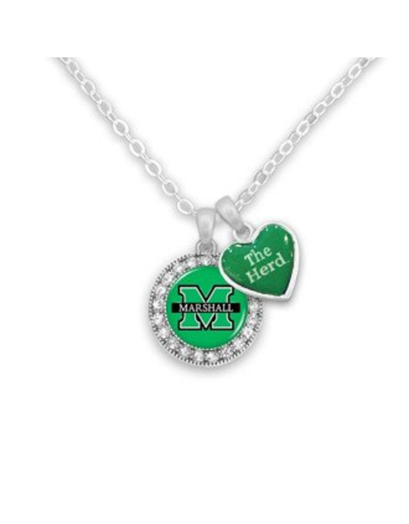 Marshall University Round Spirit Necklace