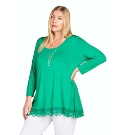 Lace Trim Tunic, Plus
