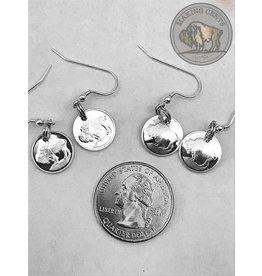 Making Cent$ Silver Bullion Bison Earrings