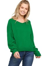 Long Sleeve V-Neck Light Sweater