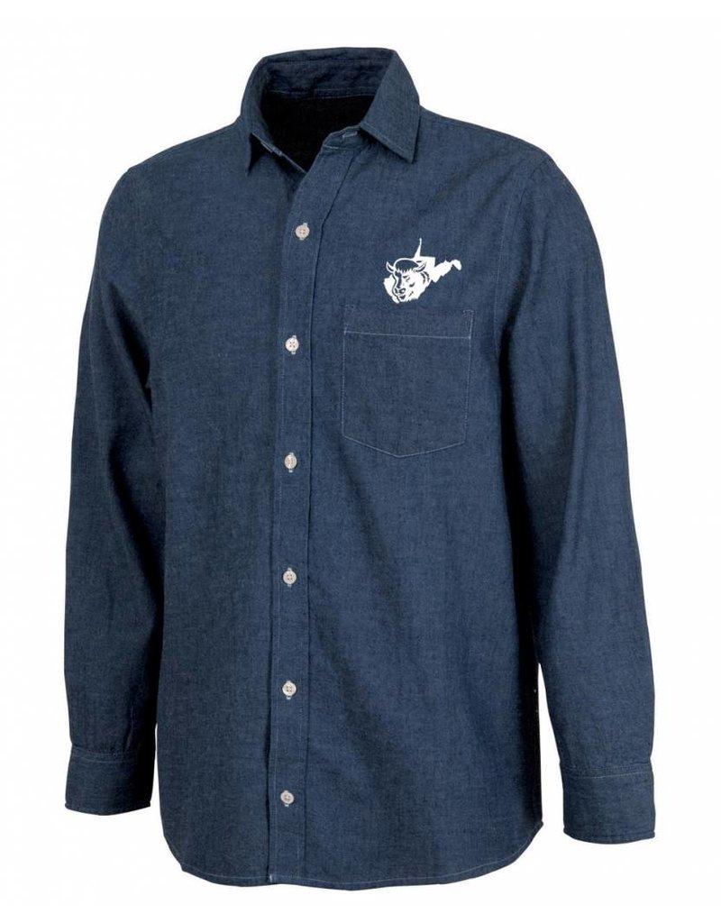 West Virginia Bison Denim Shirt