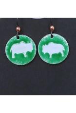 Making Cent$ Enamel Buffalo Earrings