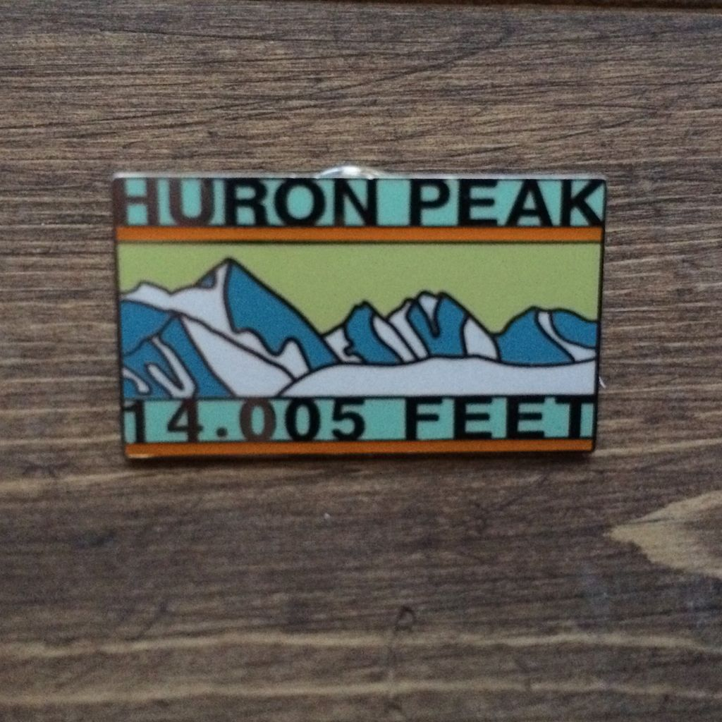 TOPP Huron Peak Pin