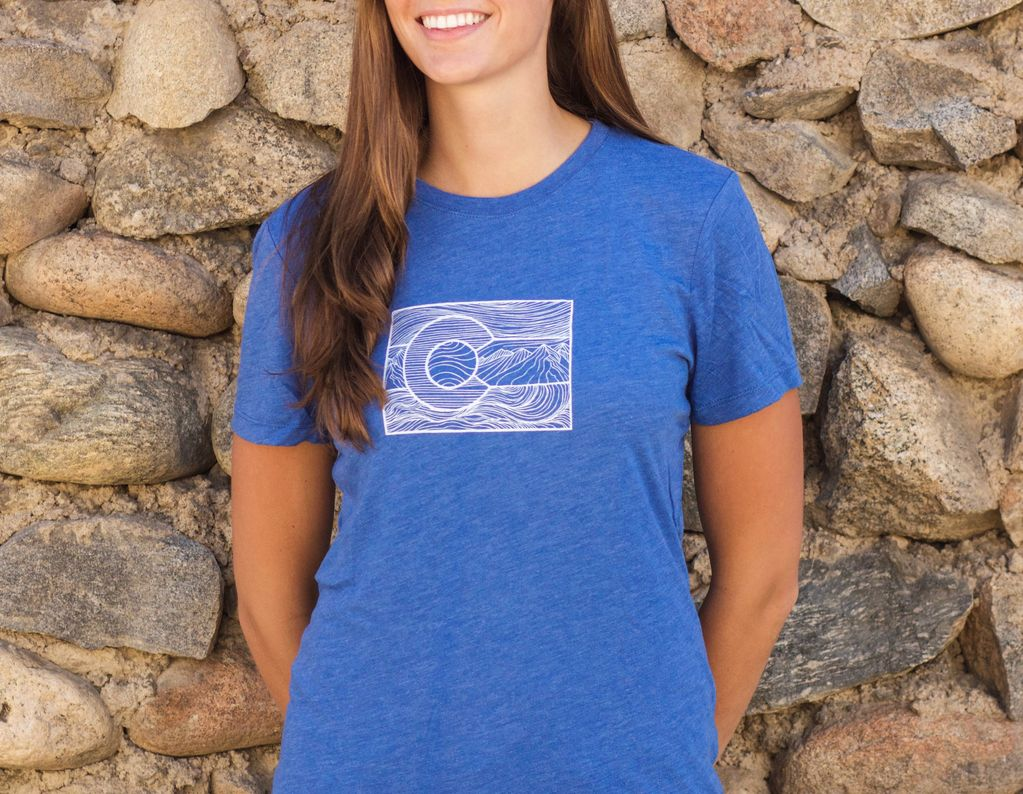 Souled Out Women's Trailhead Tee: Colorado Line Art