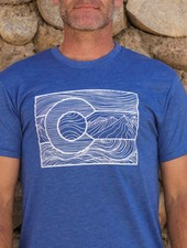 Souled Out Men's Trailhead Tee: Colorado Line Art