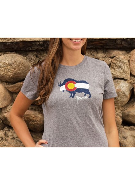 Souled Out Women's Trailhead Tri-Blend Colorado Flag Goat Tee