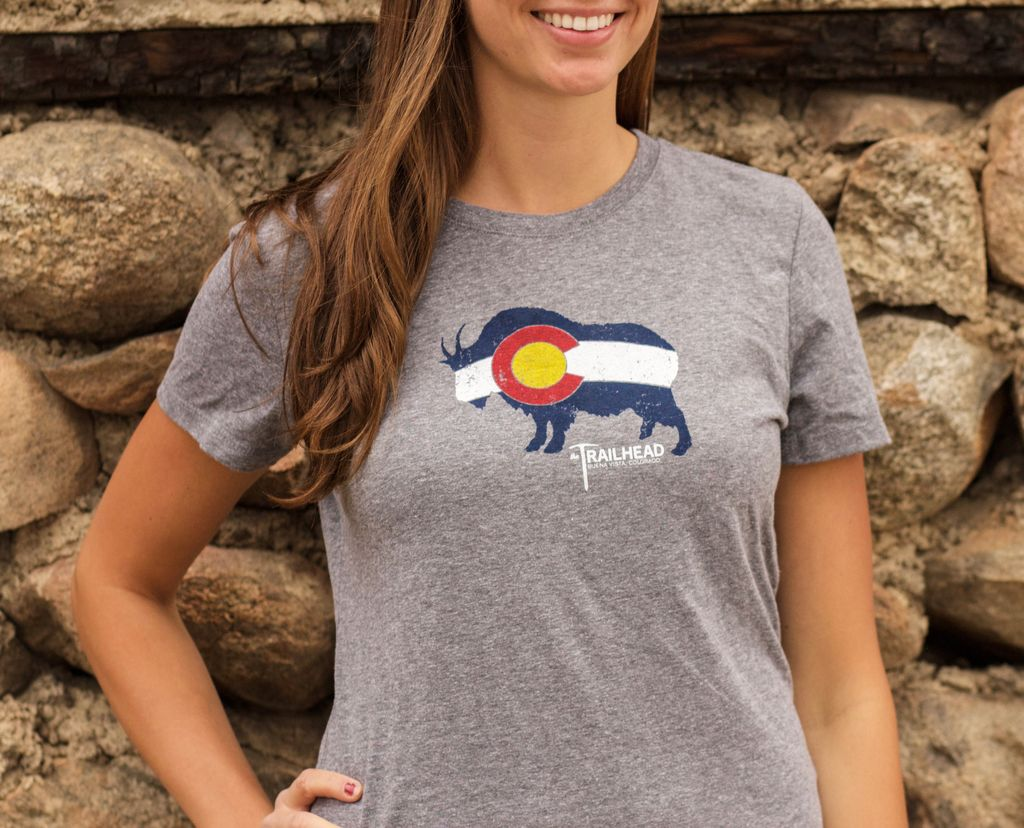 Souled Out Women's Trailhead Tee: Colorado Flag Goat