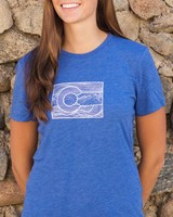 Souled Out Women's Trailhead Tri-Blend Crew Line Art Colorado Tee