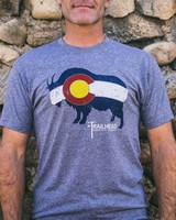 Souled Out Men's Trailhead Tri-Blend Crew Colorado Flag Goat Tee