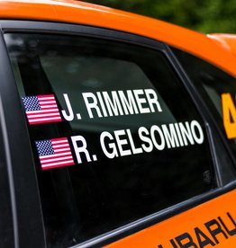 Driver's Name with Flag