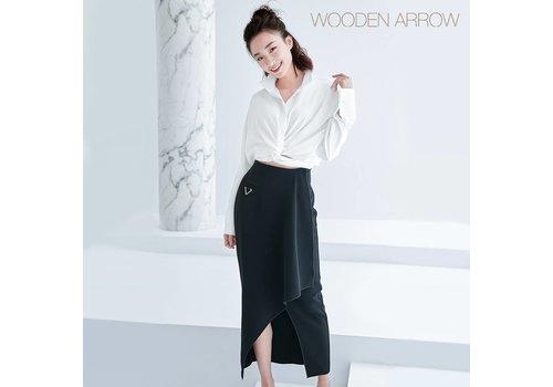 WOODEN ARROW BLACK LONG DRESS
