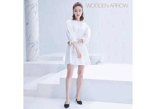 WOODEN ARROW WOODEN ARROW WHITE LONG DRESS(M)