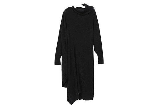 12 12 BLACK HIGH COLLAR SWEATER LONG DRESS
