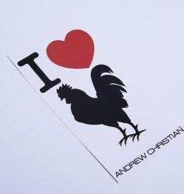 Andrew Christian I love cock sticker