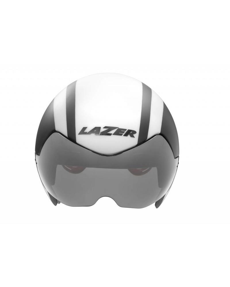 Lazer Wasp AIR Helmet with Inclination Sensor: White-Black  - MD/LG