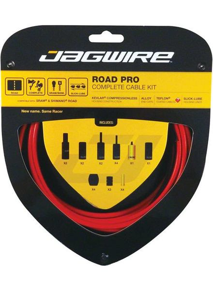 Road Pro Complete Road Brake & Derailleur Kit Red