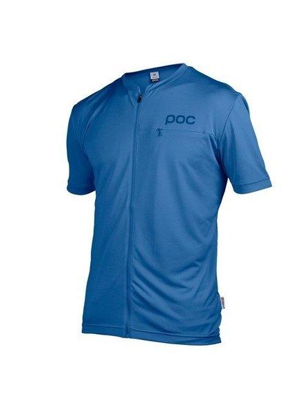 POC Trail Light Zip Tee Thulium Blue LG