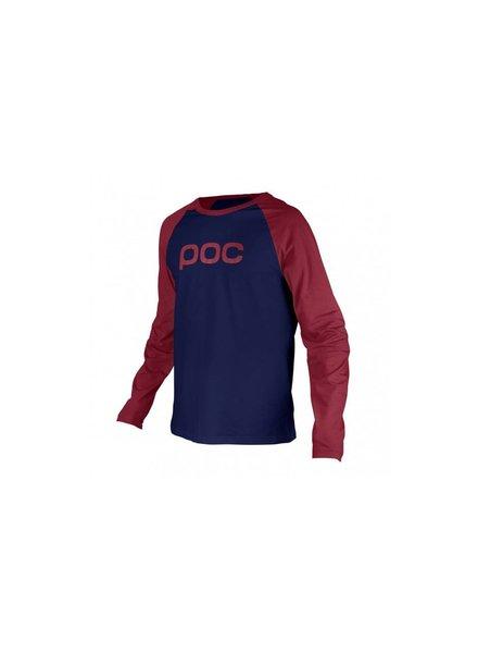 POC Raglan Jersey Solder Red/Dubnium Blue LG